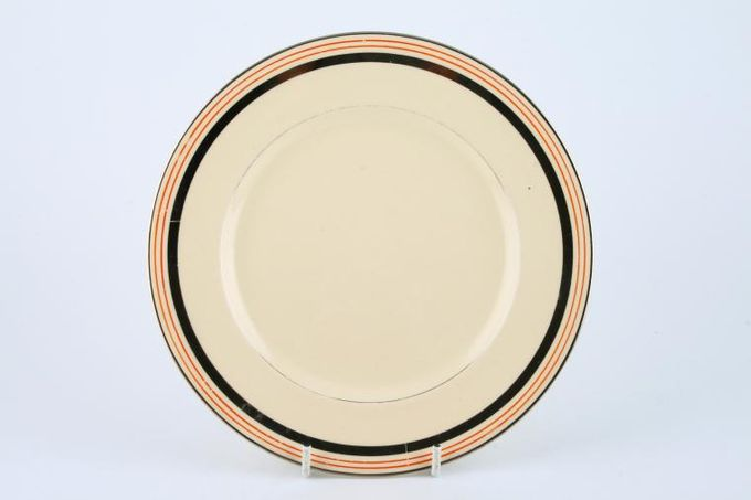 Johnson Brothers Victorian - Cream with Orange and Silver Bands Dinner Plate 10""