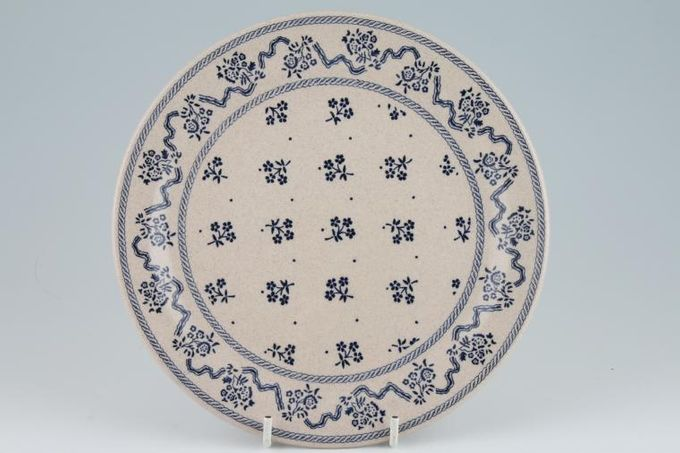 "Laura Ashley Petite Fleur - Blue Dinner Plate 9 7/8"""