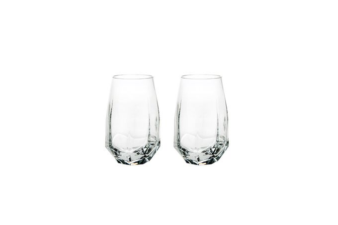 Atlantis Crystal Gemstone Highball - Set of 2 In Gift Case. Crystal 30%