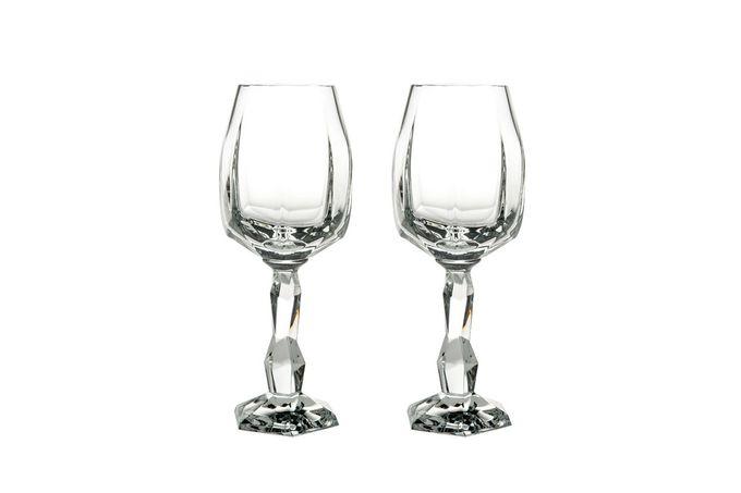 Atlantis Crystal Gemstone Wine Goblets - Set of 2 in Gift Case. Crystal 30%