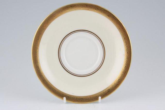 """Aynsley Helene - gold, cream, white Tea Saucer 5 3/4"""""""