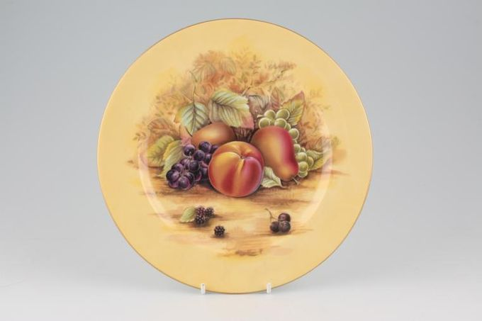 """Aynsley Orchard Gold Dinner Plate peach, pear, and grapes design 10 1/2"""""""