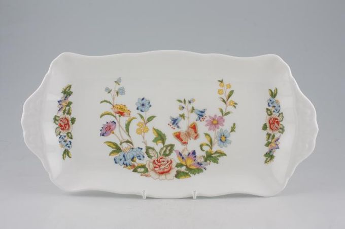 Aynsley Cottage Garden Sandwich Tray Eared 12 1/4 x 6 1/8""