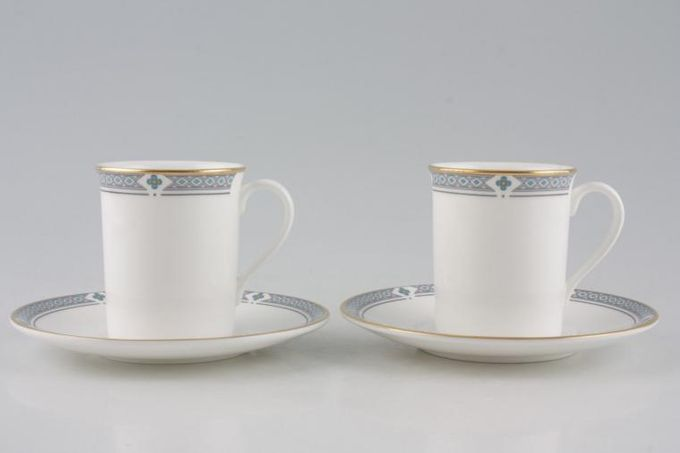"""Marks & Spencer Felsham Coffee Cans & Saucers - Set of 2 Stock clearance offer. Some seconds. Cans measure 2 3/8 x 2 3/4""""."""