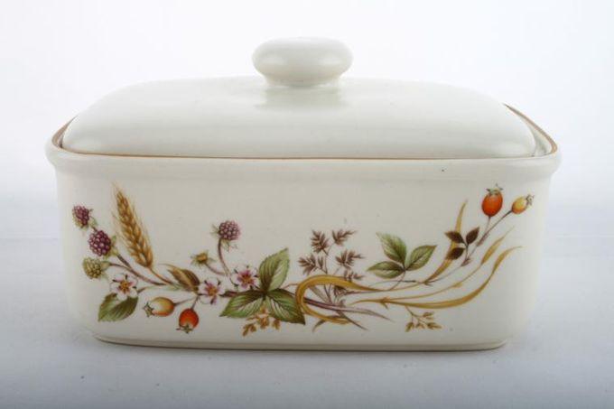 Marks & Spencer Harvest Butter Dish + Lid Box base, flat lid