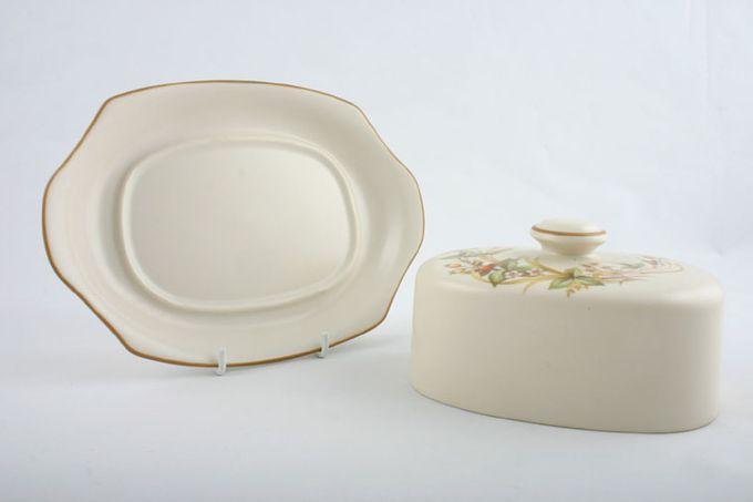 Marks & Spencer Harvest Butter Dish + Lid Flat domed lid - well in base