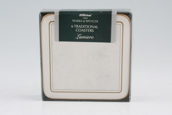 """Marks & Spencer Lumiere Coaster Square - Set of 6 4"""""""
