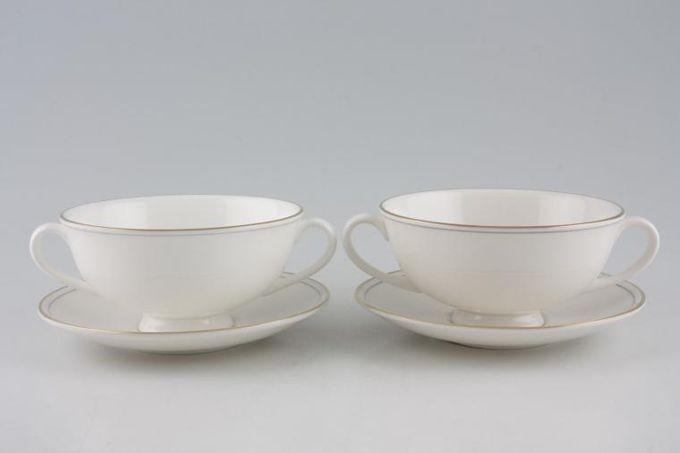 Marks & Spencer Lumiere Soup Cups and Saucers - Set of 2 Stock clearance offer. Some seconds.