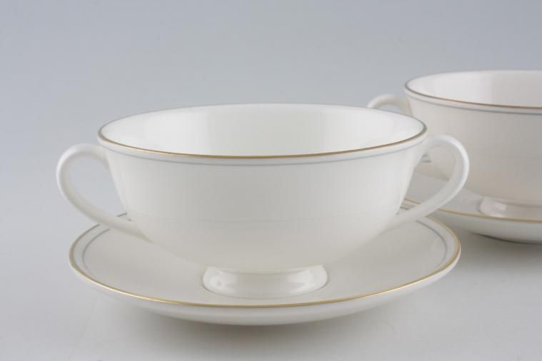 Marks Amp Spencer Lumiere Soup Cups And Saucers Set Of 2