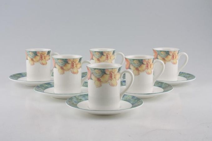 Marks & Spencer Millbrook Coffee Cans & Saucers - Set of 6 Stock clearance offer. Some seconds. 2 1/4 x 2 3/4""