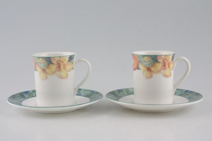 Marks & Spencer Millbrook Coffee Cans & Saucers - Set of 2 Stock clearance offer. Some seconds. 2 1/4 x 2 3/4""