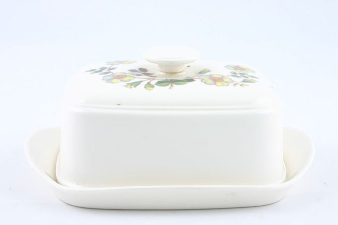 Marks & Spencer Autumn Leaves Butter Dish + Lid Melamine - Pattern on Top of the Lid