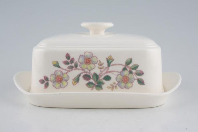 Marks & Spencer Autumn Leaves Butter Dish + Lid Melamine - Pattern on Side of the Lid