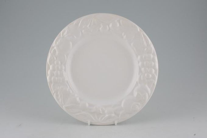 Marks & Spencer White Embossed Breakfast / Salad / Luncheon Plate Wide Rim 9""