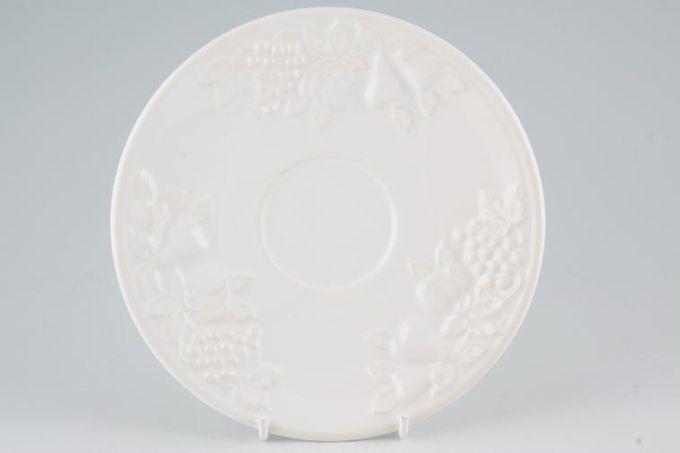 """Marks & Spencer White Embossed Tea Saucer 6 3/4"""""""
