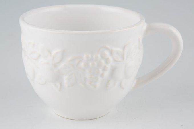Marks & Spencer White Embossed Teacup 4 x 3""