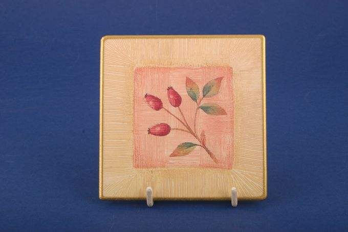 Marks & Spencer Wild Fruits Coaster Rosehip in a square 4""