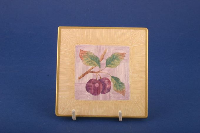 Marks & Spencer Wild Fruits Coaster Plum in a square 4""