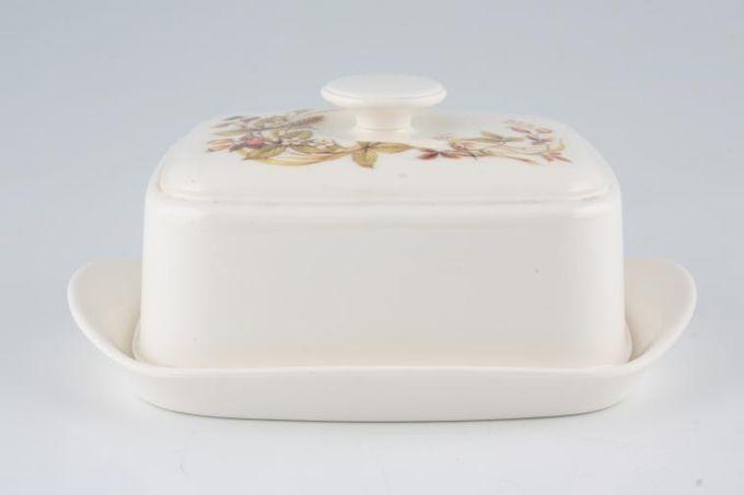 Marks & Spencer Harvest - Melamine Butter Dish + Lid Pattern on Top of Lid