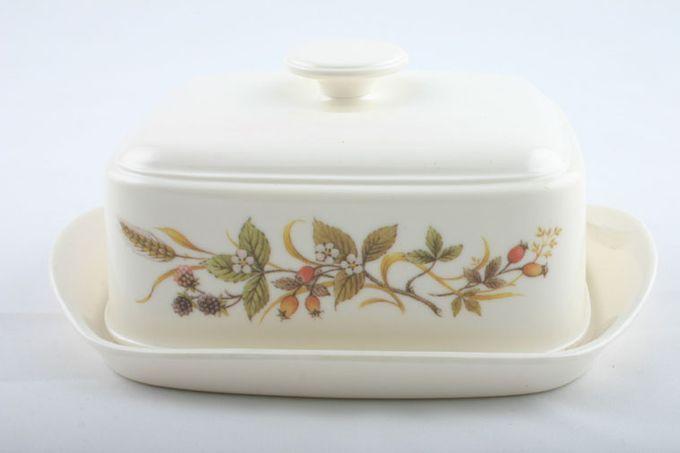 Marks & Spencer Harvest - Melamine Butter Dish + Lid Pattern on side of lid
