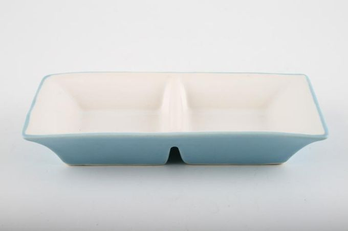 Marks & Spencer Sennen - Duck Egg Blue 2 Section dish Also could use as pinch pot 5 1/4 x 2 3/4""