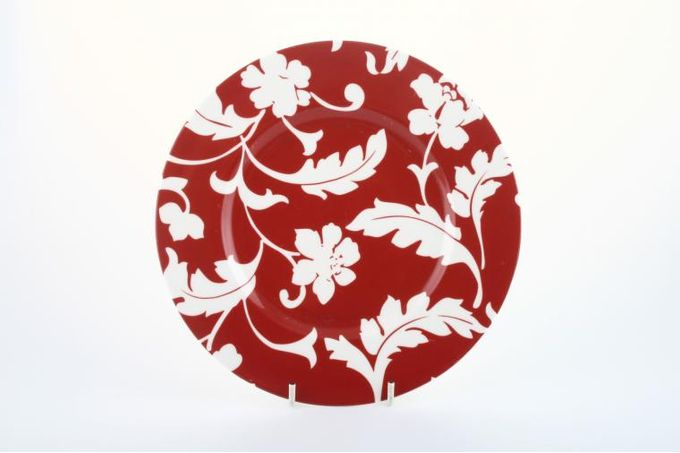 Marks & Spencer Red Damask Breakfast / Lunch Plate Accent 8 1/2""