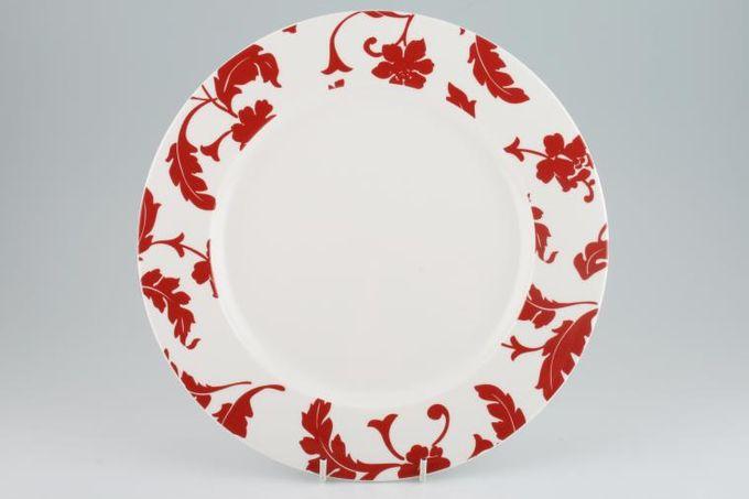 """Marks & Spencer Red Damask Dinner Plate 11"""""""