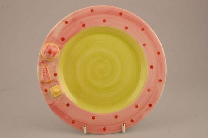 """Marks & Spencer Teatime-Battenberg Starter / Salad / Dessert Plate Pink rim 7 3/4"""""""