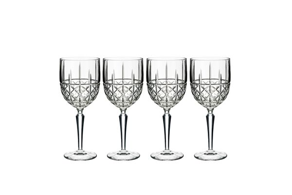 Waterford Brady Set of 4 White Wine Glasses