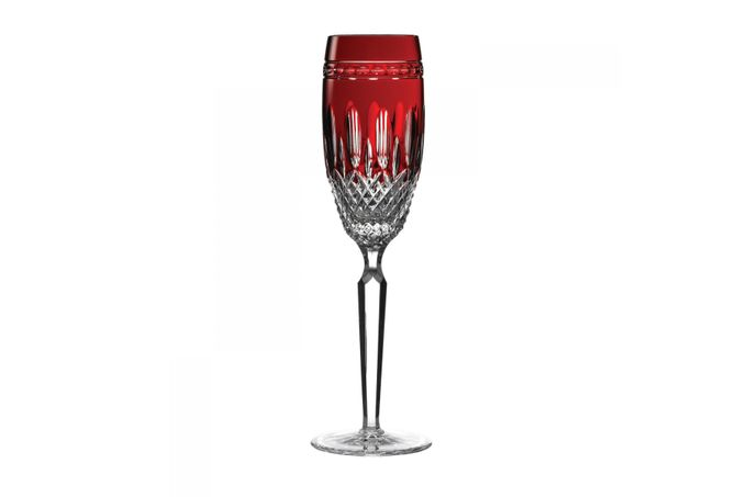 Waterford Clarendon Pair of Flutes Clarendon Ruby 24.5cm