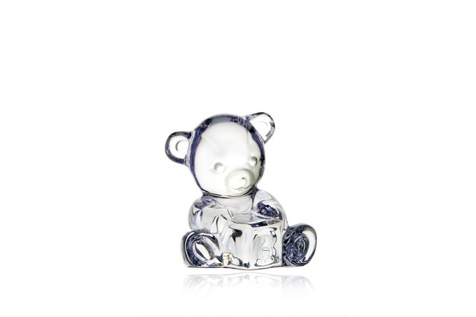 Waterford Giftology Glass Bear Baby Bear on Block