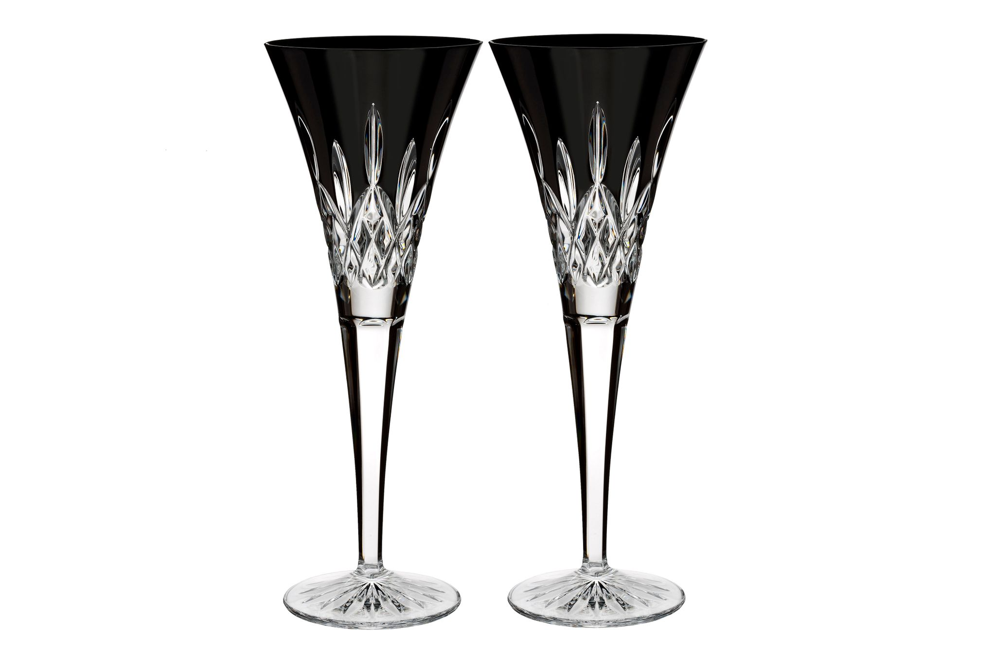 Waterford Lismore Black Pair of Flutes thumb 1
