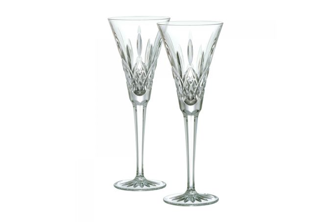 Waterford Lismore Classic Pair of Flutes Toasting 23cm