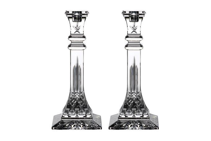 Waterford Lismore Classic Pair of Candlesticks 11 x 25.6cm
