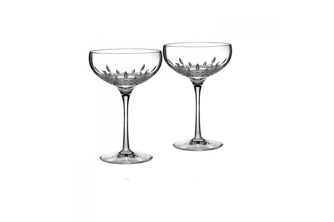 Waterford Lismore Essence Pair of Champagne Saucers 18cm