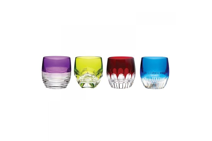 Waterford Mixology Set of 4 Tumblers Double Old Fashioned - Mixed Colours