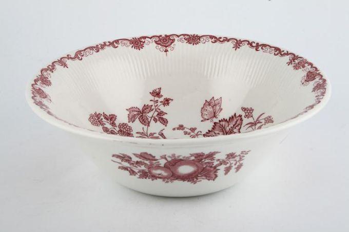 "Masons Fruit Basket - Plum Salad Bowl 9"""
