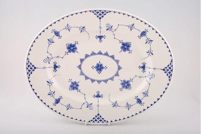 """Masons Denmark - Blue Oval Plate / Platter 14 1/4"""""""