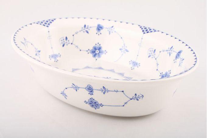 """Masons Denmark - Blue Vegetable Dish (Open) Oval 10"""""""