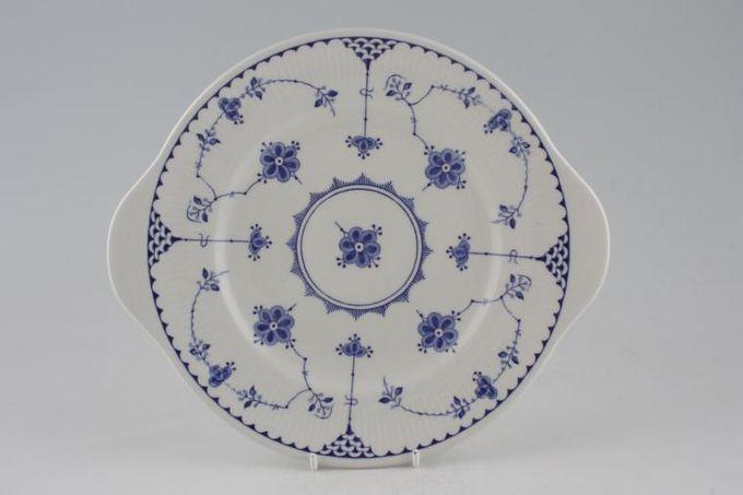 """Masons Denmark - Blue Cake Plate 10 3/8"""""""