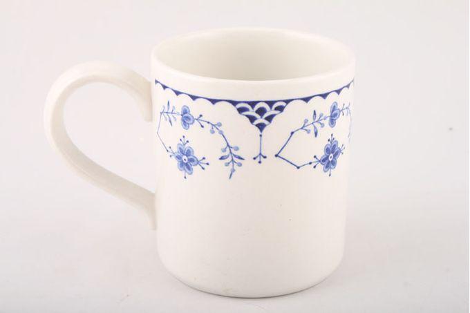 "Masons Denmark - Blue Mug Straight sided 3 1/4 x 3 1/2"""
