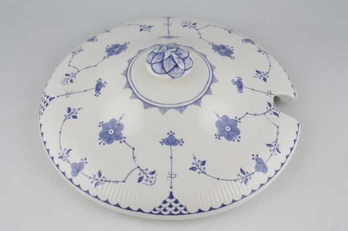 """Masons Denmark - Blue Vegetable Tureen Lid Only Cut out in lid 8 3/4"""""""