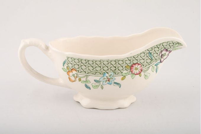 Masons English Country Garden Sauce Boat