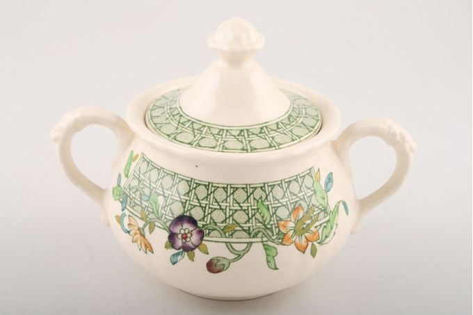 Masons English Country Garden Sugar Bowl - Lidded (Tea)