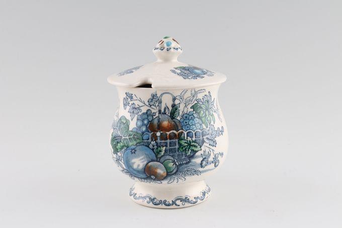 Masons Fruit Basket - Blue Jam Pot + Lid