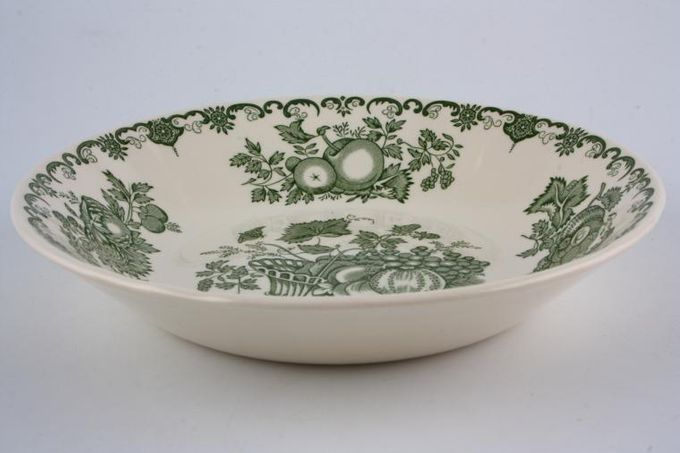 Masons Fruit Basket - Green Soup / Cereal Bowl No rim size may vary 7 5/8""