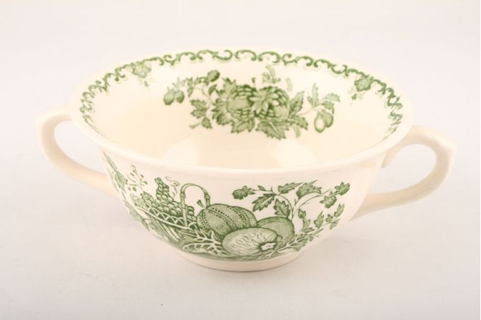Masons Fruit Basket - Green Soup Cup 2 handles/Embossed at Bottom