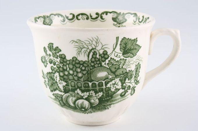 """Masons Fruit Basket - Green Teacup Leaf Embossed at the bottom 3 1/2 x 2 7/8"""""""