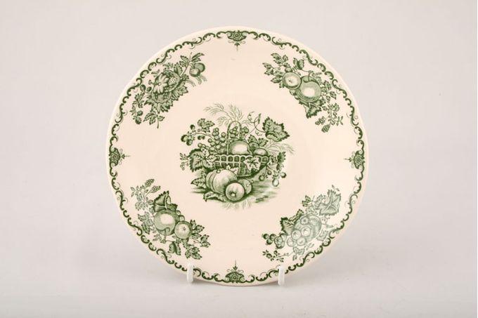 "Masons Fruit Basket - Green Tea Saucer Sizes may vary slightly 5 3/4"""