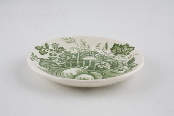Masons Fruit Basket - Green Butter Pat 3""